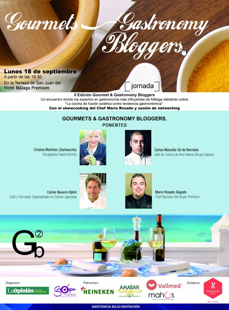 Cartel del Gourmets & Gastronomy Bloggers