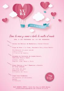 Menú de San Valentín 2018 en Yubá
